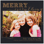 Checkerboard Holiday Photo Cards - Merry Everything! (HLG-SUD-Z)