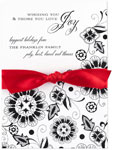 Checkerboard Holiday Greeting Cards - Festive Floral (HLG-TJD-P)