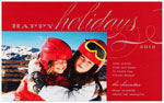 Checkerboard Holiday Photo Cards - Brilliance (HLG-VNA-S)