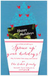 Checkerboard Holiday Greeting Cards - Spruce it up (HLG-WPL-G)