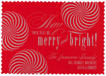 Checkerboard Holiday Greeting Cards - Peppermint Wheels (HLG-XBP-X)