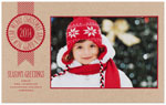 Checkerboard Holiday Photo Cards - To a Banner Year (HLG-XPU-Q)