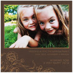 Checkerboard Holiday Photo Cards - Gilded Blossom (HLG-YSU-U)