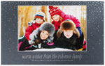 Checkerboard Holiday Photo Cards - Snowy Confetti (HLG-YUA-C)