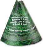 Checkerboard Holiday Greeting Cards - Conical Conifer (HLG-YXH-M)