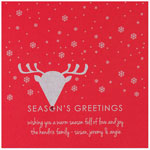 Checkerboard Holiday Greeting Cards - Nose So Bright (HLG-MKU-A)