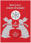 Checkerboard Holiday Greeting Cards - Season Of Wonder (HLG-QRJ-A)