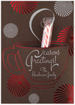 Checkerboard Holiday Greeting Cards - Cocoa & Peppermint (HLG-TKR-E)