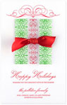 Checkerboard Holiday Greeting Cards - Gift of Wishes (HLG-WYB-F)