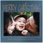 Checkerboard Holiday Photo Cards - Pure Delight (Merry Christmas) (HLG-UAD-H)