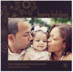 Checkerboard Holiday Photo Cards - Sugarplum (HLG-UCN-T)