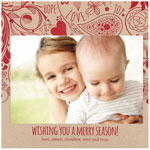 Checkerboard Holiday Photo Cards - Sprightly Spirits (HLG-UYG-I)