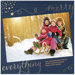 Checkerboard Holiday Photo Cards - Golden Greetings (HLG-VHJ-V)