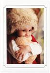 Checkerboard Holiday Photo Cards - Precious Moment (HLG-VSM-J)