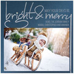 Checkerboard Holiday Photo Cards - Bright & Merry (HLG-UDD-K)