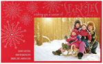 Checkerboard Holiday Photo Cards - Snowy Sparkles (HLG-QPJ-Y)