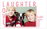 Checkerboard Holiday Photo Cards - Laughter + Love (HLG-YBY-H)