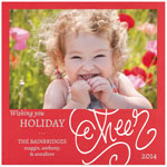 Checkerboard Holiday Photo Cards - Holiday Cheer (HLG-YDC-N)
