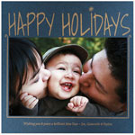Checkerboard Holiday Photo Cards - Pure Delight (Happy Holiday) (HLG-YDP-A)