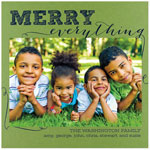 Checkerboard Holiday Photo Cards - Merry Everything! (HLG-YDR-C)