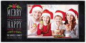 Checkerboard Digital Holiday Photo Cards - Merry and Happy (HLG-ADH-U)