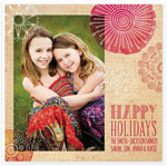 Checkerboard Digital Holiday Photo Cards - Handdrawn Holidays (HLG-AED-R)