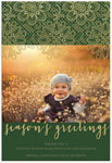 Checkerboard Digital Holiday Photo Cards - Green and Lace (HLG-BCA-N)