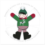 Checkerboard Holiday Greeting Cards - Snow Elf (HLG-DFA-S)