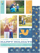 Checkerboard Digital Holiday Photo Cards - Holiday Collage (HLG-FWF-Q)