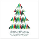 Checkerboard Holiday Greeting Cards - Geo Greetings (HLG-GJA-Z)