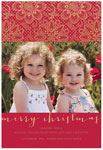 Checkerboard Digital Holiday Photo Cards - Red and Lace (HLG-GOY-C)