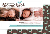 Checkerboard Digital Holiday Photo Cards - The More the Merrier (HLG-GPM-R)
