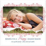 Checkerboard Holiday Photo Cards - Floral Frame (HLG-IMC-G)