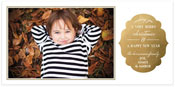 Checkerboard Digital Holiday Photo Cards - Golden Impression (HLG-JEX-U)
