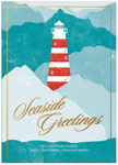 Checkerboard Holiday Greeting Cards - Local Charm (Lighthouse) (HLG-JKE-H)
