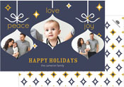 Checkerboard Digital Holiday Photo Cards - Peace Love and Joy (HLG-JSQ-B)