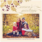 Checkerboard Holiday Photo Cards - Hollyberry (HLG-KNS-Z)