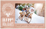 Checkerboard Holiday Photo Cards - Wreathed in Winter (HLG-KUC-Q)