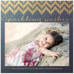 Checkerboard Holiday Photo Cards - Sparkling Wishes (HLG-LAD-Y)