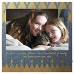 Checkerboard Holiday Photo Cards - Diamond and Gold (HLG-LGX-Y)