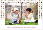 Checkerboard Digital Holiday Photo Cards - Modern Holidays (HLG-LUK-Z)