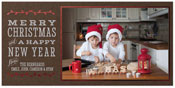 Checkerboard Holiday Photo Cards - Colors of Christmas (HLG-MEQ-Q)