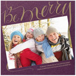 Checkerboard Holiday Photo Cards - Be Merry (HLG-MPD-O)