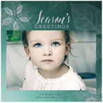Checkerboard Holiday Photo Cards - Pressed Leaves (HLG-MRM-Z)