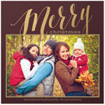Checkerboard Holiday Photo Cards - Mirth and Merry (HLG-OVF-Y)
