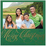 Checkerboard Holiday Photo Cards - Christmas Swash (HLG-QWT-P)