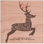 Checkerboard Holiday Greeting Cards - Rudolph! (HLG-RHY-G)