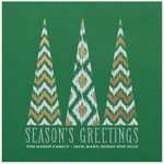 Checkerboard Holiday Greeting Cards - Patterned Pines (HLG-RUJ-E)