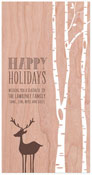 Checkerboard Holiday Greeting Cards - Forest Friends (HLG-TXP-P)
