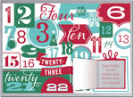 Checkerboard Holiday Greeting Cards - Countdown to Christmas (HLG-UBL-Q)